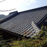香川県高松市香西本町 セメント瓦 入母屋 屋根塗装