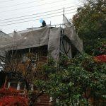 落葉と高圧洗浄【埼玉県ときがわ町ログハウス】:
